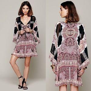 Free People Marla Dreams Paisley Gypsy Dress